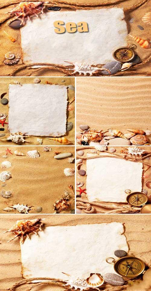 Рамки для открыток морские 78