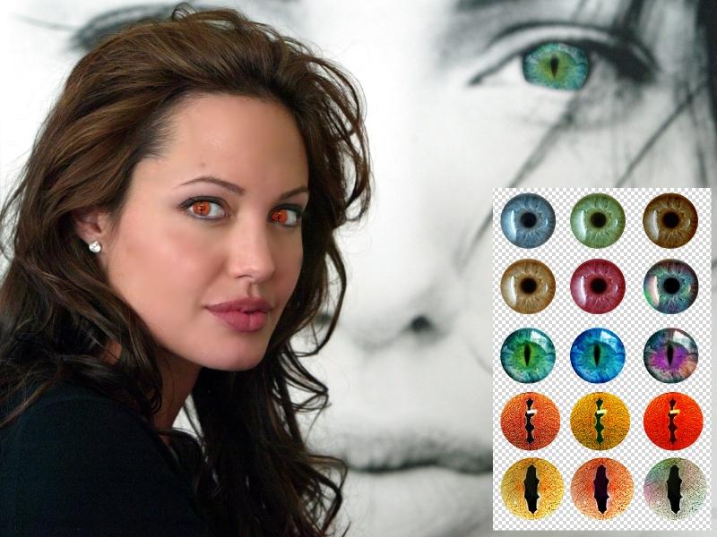 Как в фотошопе сделать линзы на глазах