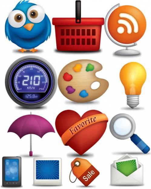Сliparts - Sources Icons Set - исходные клипарты для создания иконок