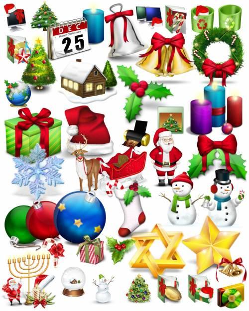 Icons. Рождественские и Новогодние иконки