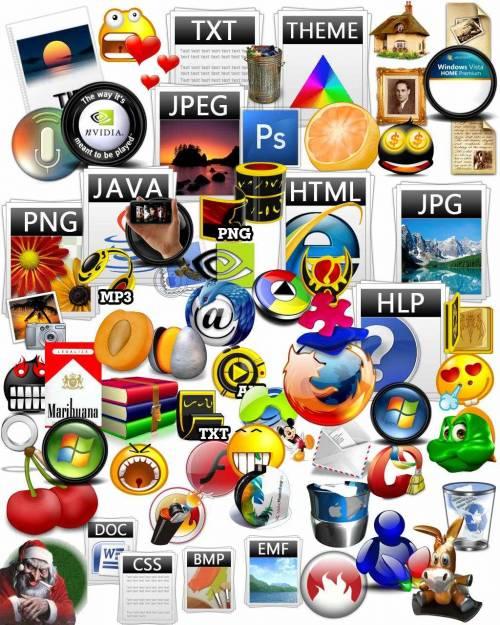 Иконки - Мега сборник прекрасных тематических иконок